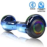 FLYING-ANT  Hoverboards 6.5' Two-Wheel Self Balancing Electric Scooter with LED Light Flash Lights Wheels with UL 2272 Certified and Carry Bag(Blue)