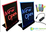 LED Optimal LED Writing Board with Remote Control (A Complete Set-6 Fluorescent Marker Pens Included) (Mini 12''x9'')