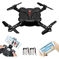 Foldable Mini Drone with Camera, LAMASTON 2.4G Remote Control Helicopter FPV Drones for Kids and Adult with APP Control,Headless Mode, Altitude Hold and Gravity Sensor