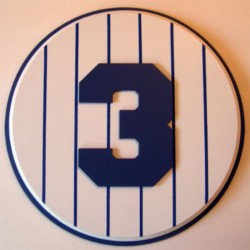Retired Number 3 Plaque Yankees Babe Ruth - large Babe Ruth Numbers