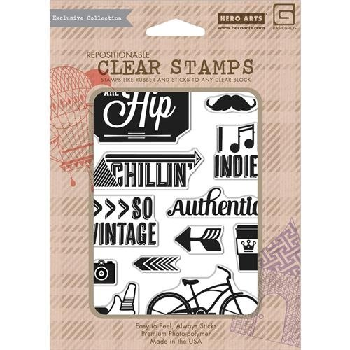 You Are Hip Clear Stamps - Hipster - Basic Grey