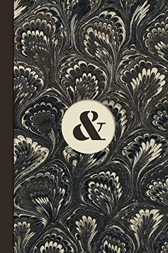 Monogram Symbol Ampersand Memo Marble Notebook (Coffee Peacock Edition): Blank Lined Journal for Creative Writing, Poetry, Reminders, To Do Lists, ... Habit Tracking, and Motivational Notes