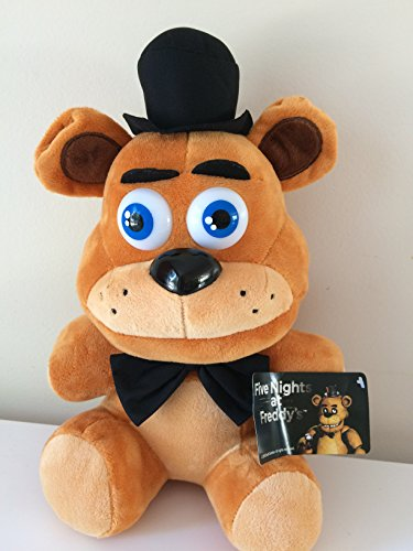 1pcs Five Nights At Freddy's 4 FNAF FREDDY Plush Toy Doll SIZE: 12 inch (Colour: Brown)) -