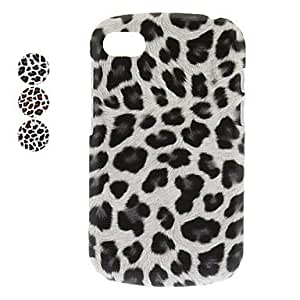 Leopard Print PC Hard Case for BlackBerry Q10 (Assorted Colors) --- COLOR:Gray