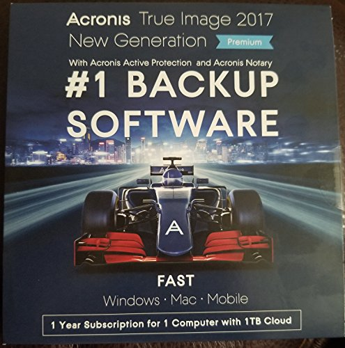 Acronis True Image Premium 2017 - 1 Devices + 1TB Cloud Storage for 1 Year