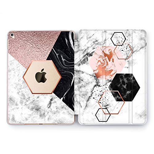 Wonder Wild New Hexagon iPad Case 9.7 Pro inch Mini 1 2 3 4 Air 2 10.5 12.9 2018 2017 Design 5th 6th Gen Clear Print Smart Hard Cover Geometrical Shapes Form Classical Collection Manly Abstract