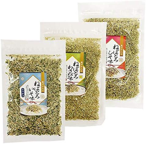 山根食品 ねばとろふりかけ 磯味&わさび味&しそ味 3種類お試しセット 国産昆布使用