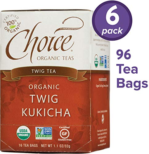 - Choice Organic Teas Twig Tea, 6 Boxes of 16 (96 Tea Bags), Twig Kukicha