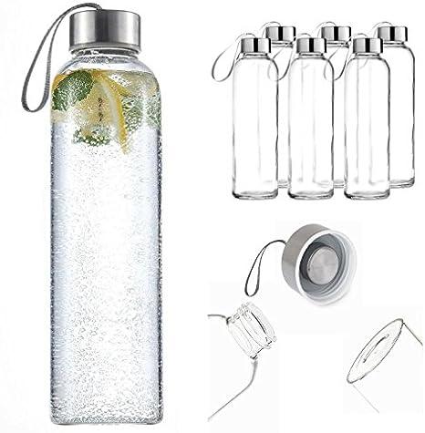 Pack de 6 deporte cristal bebidas botella de agua 500 ml con de ...