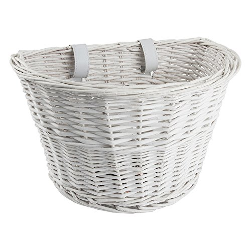 "Sunlite Willow Classic Basket w/ Straps, 14 x 10 x 8.5"", Whi"