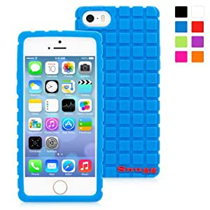 Snugg iPhone 5/5s Case - Protective, Non-Slip Silicone Case With Lifetime Guarantee (Blue) For Apple iPhone 5/5s