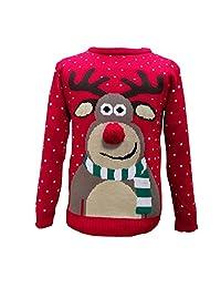 Purl Big Girls' Xmas Jumper Christmas Slogans Sweater