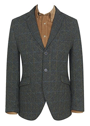 Harris Tweed quilted jacket The Shillay (44R)