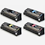 Toner Tech- High Yield Remanufactured OEM Toner Cartridge Replacement (Q3960A,Q3961A,Q3962A,Q3963A) for HP 122A/ HP 2550 ( Complete Set)
