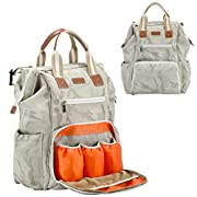 Diaper bag Backpack,Wide Open Designer Travel Baby Nappy Bags with Changing Pad Insulated Pocket For Women and Men
