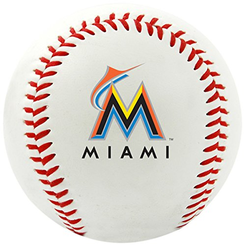 MLB Mia Marlins Team Logo Baseball, Official, White ()