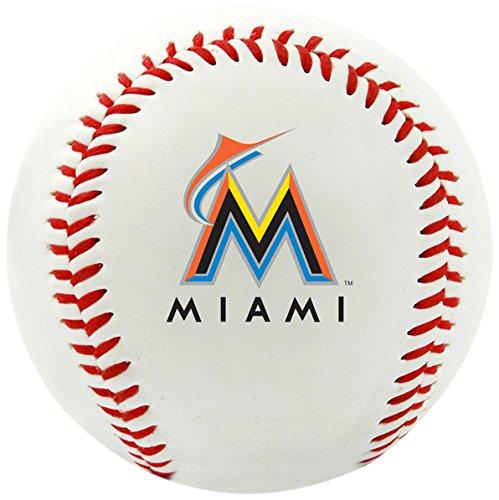MLB Mia Marlins Team Logo Baseball, Official, White (White Marlin)