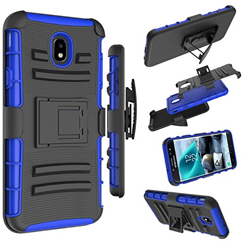 Galaxy J7 2018/J7 Aero/J7 Top/J7 Eon/J7 Star/J7 Crown/J7 Aura Case, Zoeirc [Heavy Duty] Armor Shock Proof Dual Layer Phone Case Cover with Kickstand & Belt Clip Holster for Samsung J7 ()