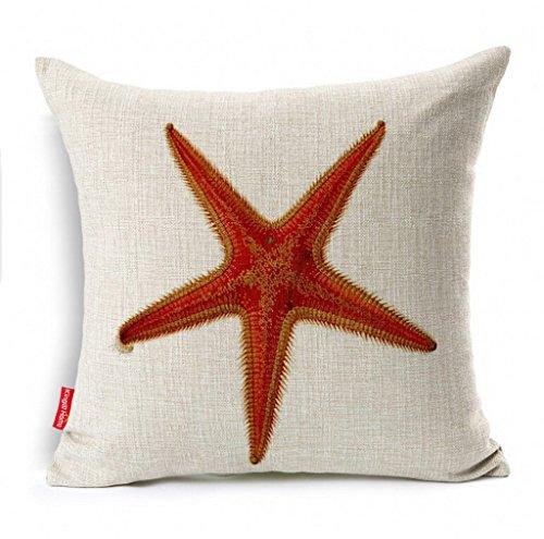 kingla-homer-ocean-park-theme-red-starfish-18-x-18-inch-cotton-linen-square-decorative-throw-pillow-