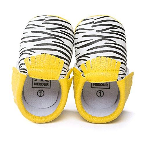 Lemandy Lovely sintética Bebés primera zapatos de senderismo Zapatos de Senderismo de aprendizaje Niños o Niñas BS002 plata Talla:12 cm cow