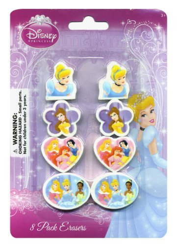 (Princess Erasers 8 Pack)
