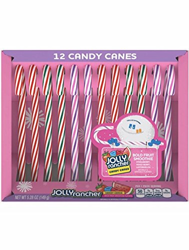 Jolly Rancher Holiday Bold Fruit Smoothie Candy Canes 12 ct 5.28 oz (Tart Smoothie)