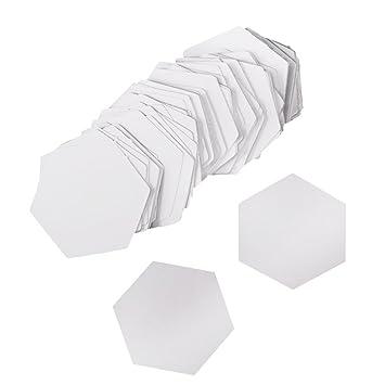 Baoblaze 100 Stück Hexagon Papier Schablonen Patchwork Quilting ...