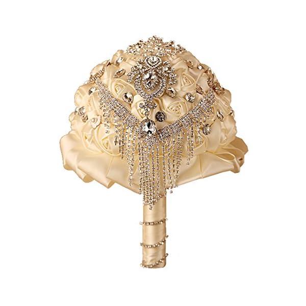 FAYBOX-Handmade-Rhinestone-Brooch-Stunning-Tassel-Wedding-Bridal-Bouquets