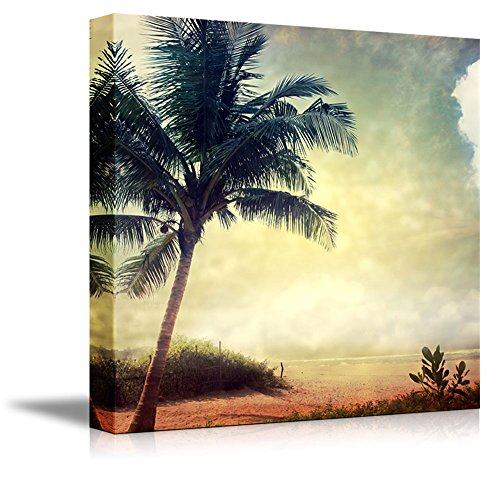 Vintage Retro Style Grunge Palm Tree Home Deoration Wall Decor ing ped