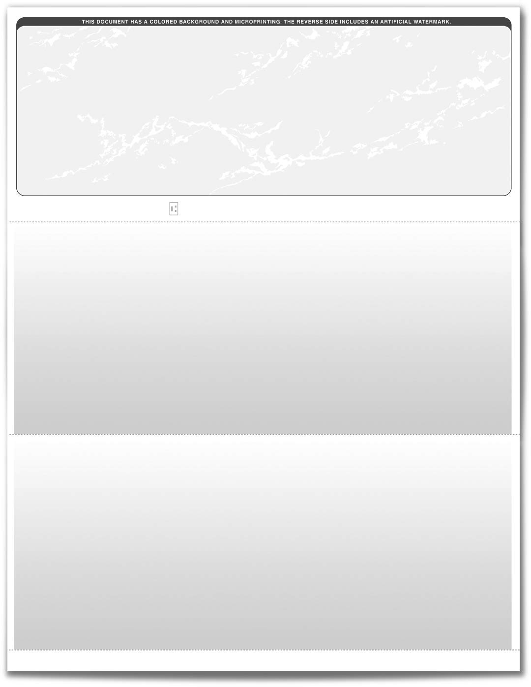VersaCheck ValueChex Blank Check Paper - Form #1000 Business Voucher Check on Top - Grey - Prestige - 5000 Sheets/5000 Checks