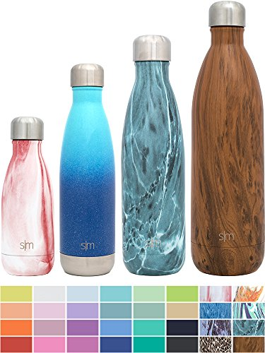 Simple Modern 25oz Wave Water Bottle - Vacuum Insulated Double Wall 18/8 Stainless Steel Hydro Swell Flask - Concept Collection - Reflection