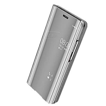 Beryerbi Funda Huawei P10,Carcasa Huawei P10 Lite Espejo Mirror Flip PC Hard Case Ultra Delgada Anti-Scratch Protector Cover Soporte Plegable Caso ...