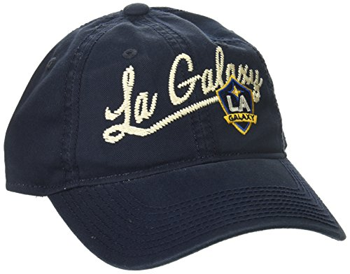 adidas MLS Los Angeles Galaxy Women's Adjustable Slouch Hat with Script Logo, One Size, Navy
