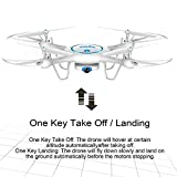 Yanni-SYMA-X5UW-24Ghz-RC-QuadcoptersHeadless-Wifi-FPV-Drones-Multirotors-With-720P-HD-Camera-Flight-Plan-Route-Setting-Altitude-Hold-Function-Bonus-Battery-IncludedWhite