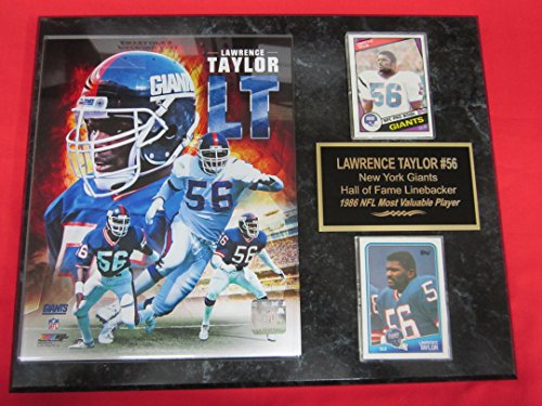 (J & C Baseball Clubhouse Giants Lawrence Taylor 2 Card Collector Plaque #2 w/8x10 Composite Photo)