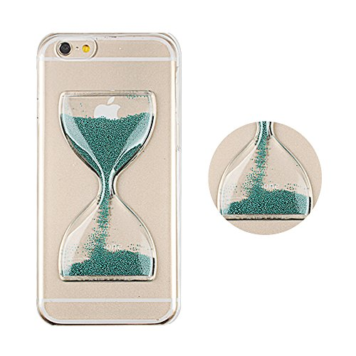 5.5'' iPhone 6 Plus Case, Boriyuan Ultra Thin Stylish Luxury Protective Hourglass Sand Clock 3D Crystal Clear Transparent Hard Back Snap On Case Cover Shell for Apple iPhone 6 Plus 5.5 inch Smartphone with a Free Screen Protector (Blue)