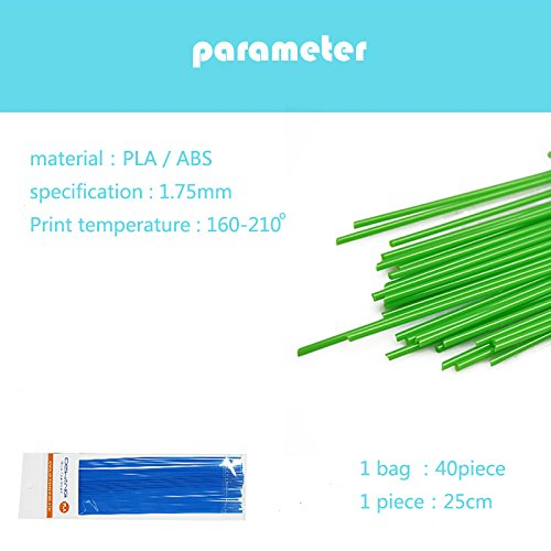 LED Display 1st 1.75mm PLA DIY 3D Printing Pen Creative Gift Crafting Design Painting Doodle 3D Printer Pen With PLA Filament (PLA-20colour/200M) by kamidi (Image #3)