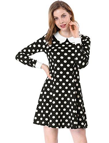 peter pan collar dress xs - 7
