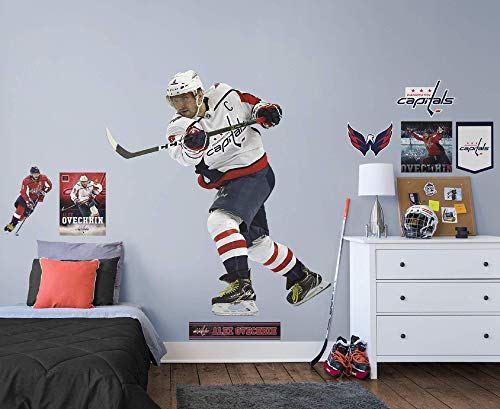 FATHEAD NHL Washington Capitals Alex Ovechkin- Officially Licensed Removable Wall Decal, Multicolor, Life-Size