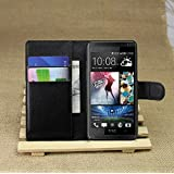 YHC Wallet Holder Leather Pouch Case Cover For HTC Desire 601 Colour Black