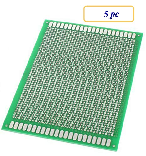 5 pc Double Sided Protoboard Prototyping PCB Board 10cm x 15cm
