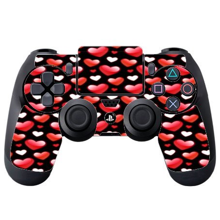 decal-sticker-red-white-vape-shiny-smoke-valentines-hearts-pattern-printed-design-ps4-dualshock4-con