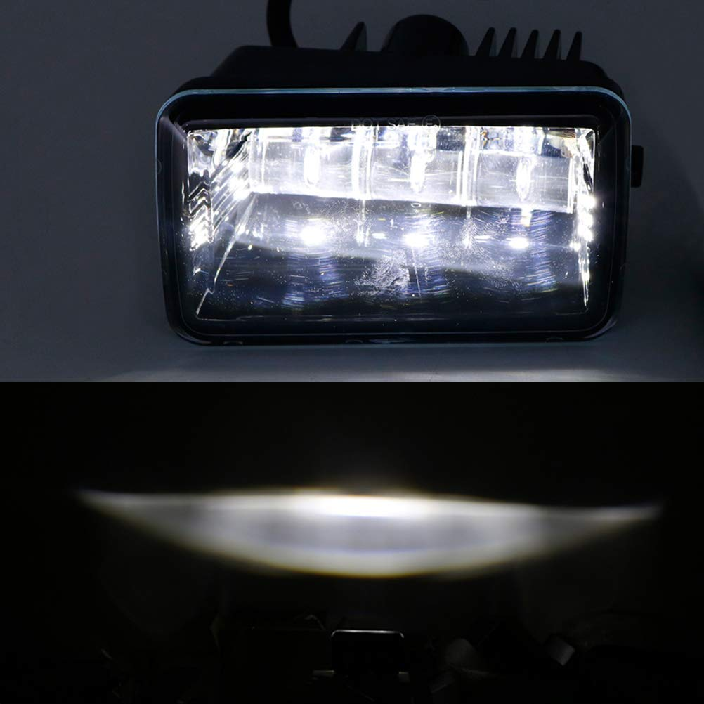 Black 2pcs Z-OFFROAD LED Fog Lights for 2015-2018 Ford F150 F-150 2017-2018 Super Duty 4 Inch Rectangular Fog Light Bumper Driving Lamp Set Assembly Kit