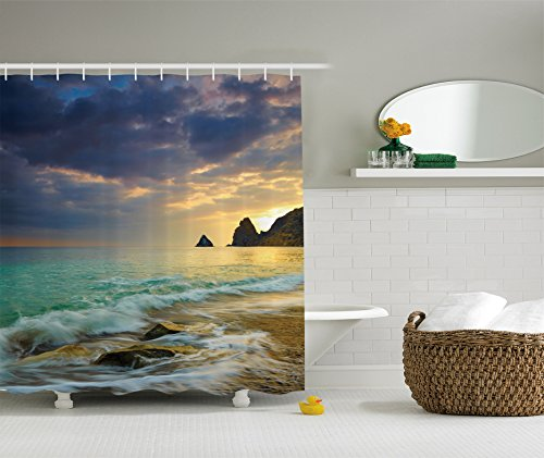 Ambesonne Collection Seascape Dramatic Polyester