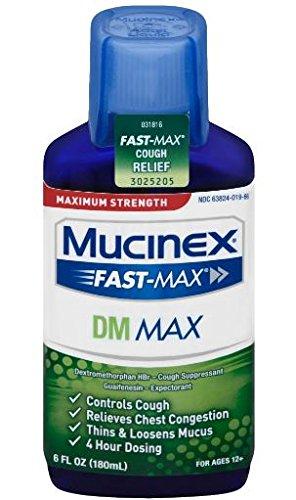 Mucinex Fast Max Dm  Max Strength  Cough Relief Liquid  6Oz