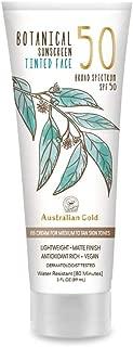 product image for Australian Gold Botanical Sunscreen Tinted Face BB Cream SPF 50, 3 Ounce | Medium-Tan | Broad Spectrum | Water Resistant | Vegan | Antioxidant Rich