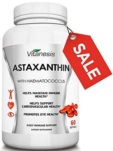 Astaxanthin – Natural Extract! Dietary Supplement in Softgels for Cardiovascular Support, Promotes Eye Health, Maintains Immune Function. 100% Money Back Guarantee! Worth a Try!