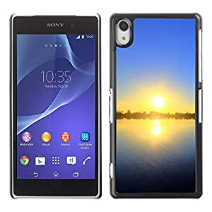 """For Sony Xperia Z2 , S-type Sunset Beautiful Nature 55"""" - Arte & diseño plástico duro Fundas Cover Cubre Hard Case Cover"""