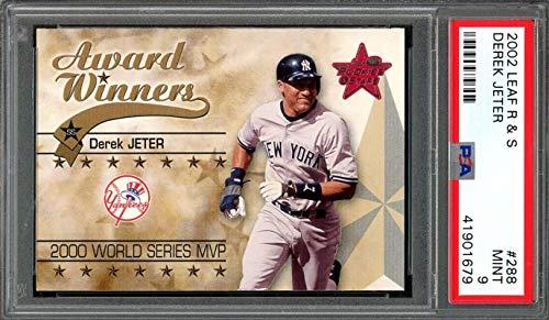 ab490810e Amazon.com: 2002 leaf r & s #288 DEREK JETER new york yankees PSA 9 ...