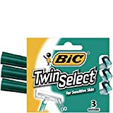 Bic Twin Select Sensitive Skin, 3 Count (6 Pack)